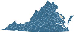 Map of Richmond County